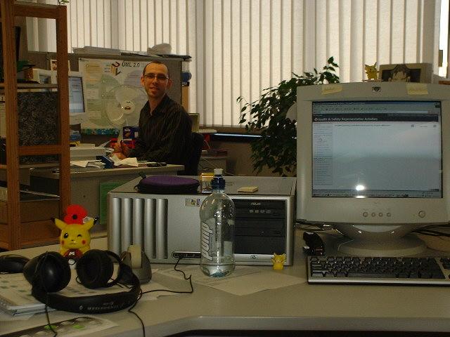 My original desk at Beca 2005